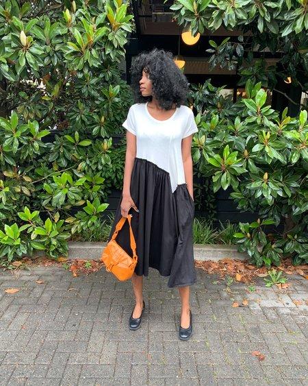 Vintage Y's Yohji Yamamoto Asymmetric Dress - black/white