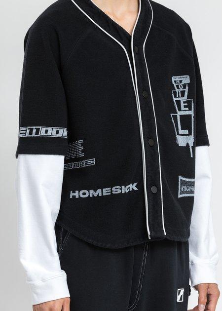 we11done Baseball Jersey Long Sleeve Jacket - Black