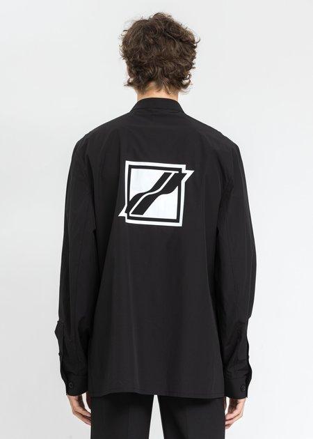 we11done Logo Print Over Shirt - Black