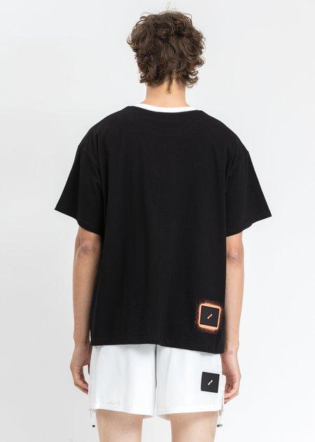 WE11DONE Double Logo T-Shirt - Black