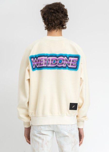 we11done Big Lettering Sweater - Ivory