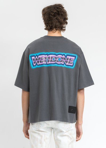 WE11DONE Mini Logo Patch T-Shirt - Charcoal