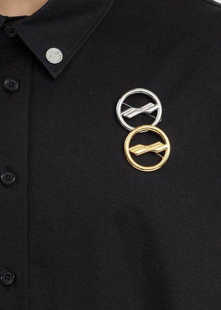 we11done Circle Logo Brooch - Mix