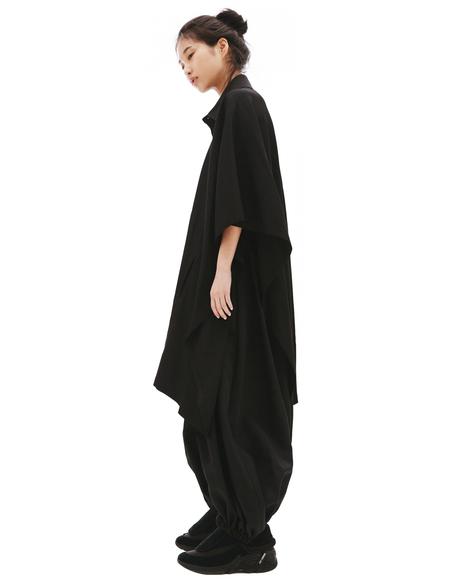 Yohji Yamamoto Black Elongated T-shirt