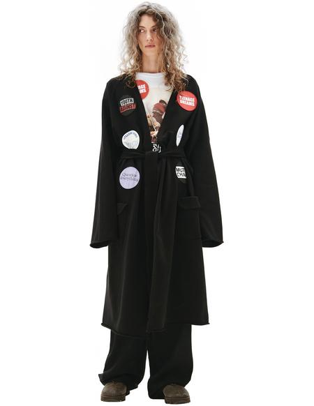Raf Simons Black Tied-Waist Coat