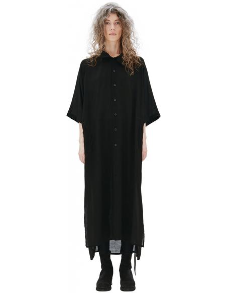 Yohji Yamamoto Black Hooded Dress