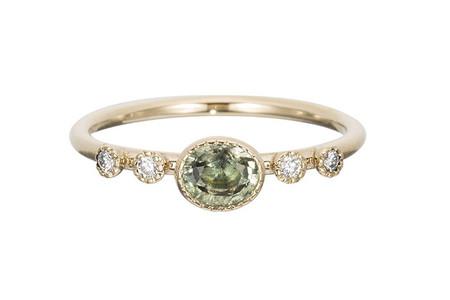 Jennie Kwon Designs Green Sapphire Dew Ring
