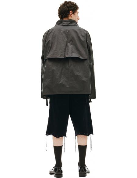 Maison Margiela Ramie Anorak coat - black