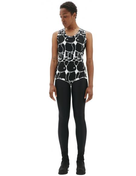 Comme des Garcons Bearbrick Printed Bodysuit