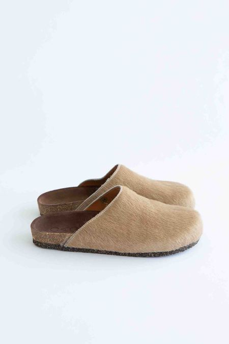 WOLF & GYPSY VINTAGE Pony Skin Mule - Cappuccino