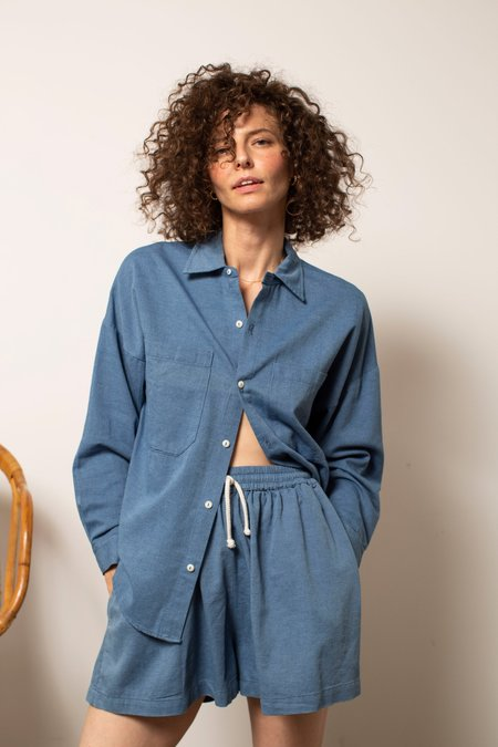 nico nico Jaan Button-Up - Belle Blue