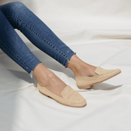 Proud Mary Footwear Raffia Loafers - Natural