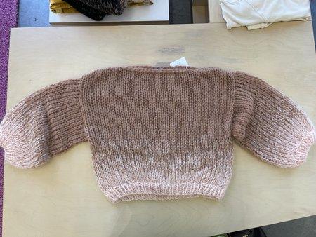 Maiami Gradient Fade Big Sweater - Soft Apricot/Camel