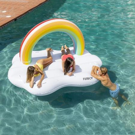 Funboy rainbow daybed float - White