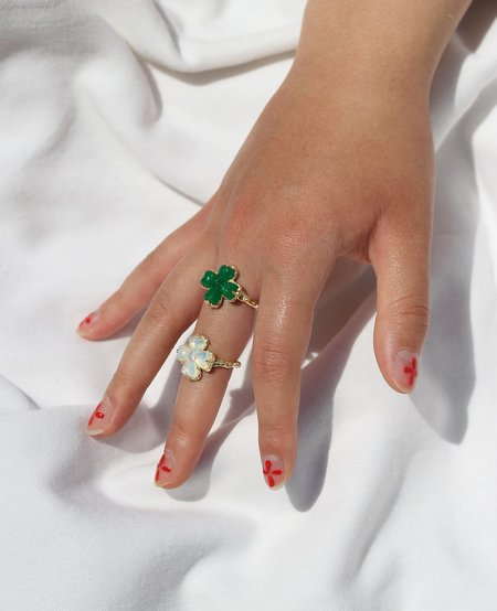 [Pre-Loved] Ora-C Lucky Me Brass Ring - Green