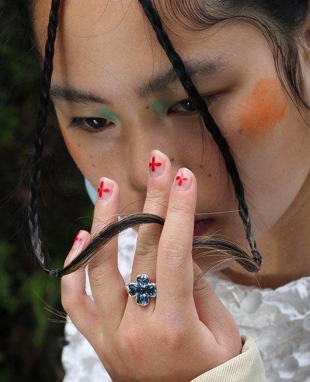 Ora-C Lucky Me Silver Ring - Blue