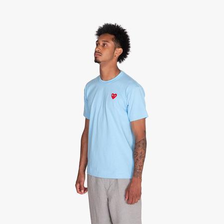 Comme des Garçons PLAY Red Heart Tshirt - Blue