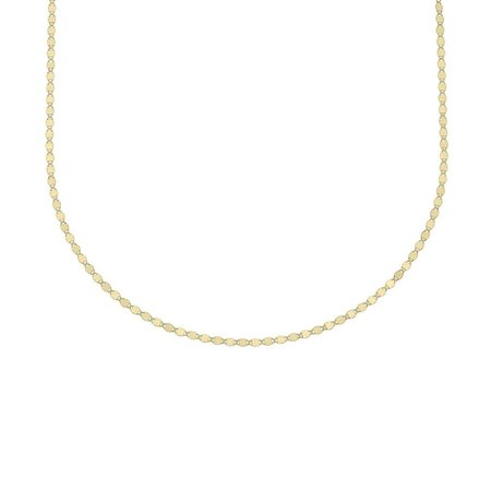 Carrie Hoffman Flat Oval Disc Necklace - Gold