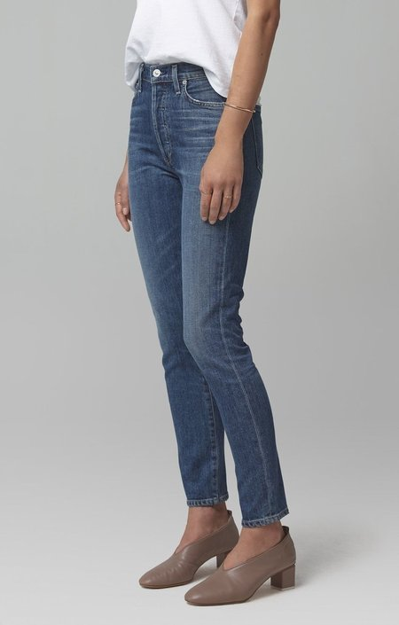 Citizens of Humanity Olivia High Rise Slim Fit Jeans - Solo