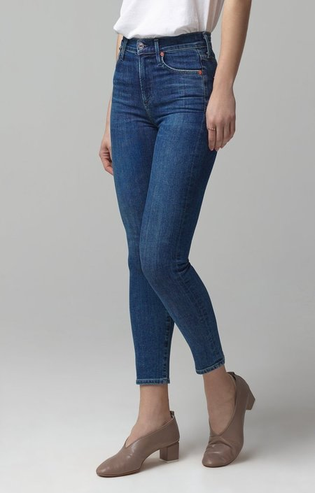 Citizens of Humanity Rocket Crop High Rise Skinny Jeans - Carmel