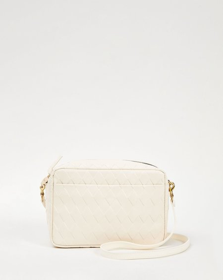Clare V. Marisol Bag - Cream Diamond
