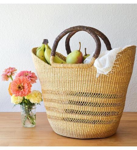 Swahili Modern Handmade Shopping Lacework Basket