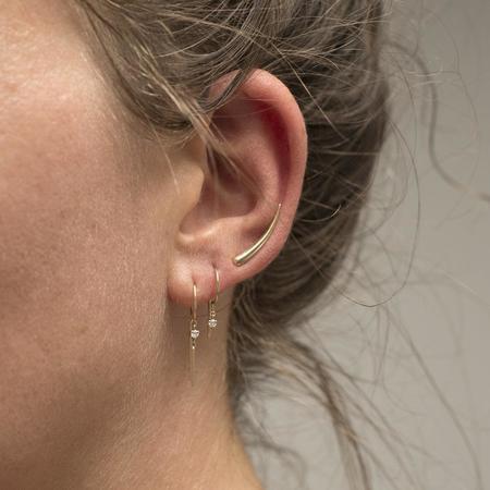 Jack + G Loopdie Diamond earrings - 14k yellow gold
