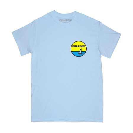 FREE & EASY Sailboat Tee - blue