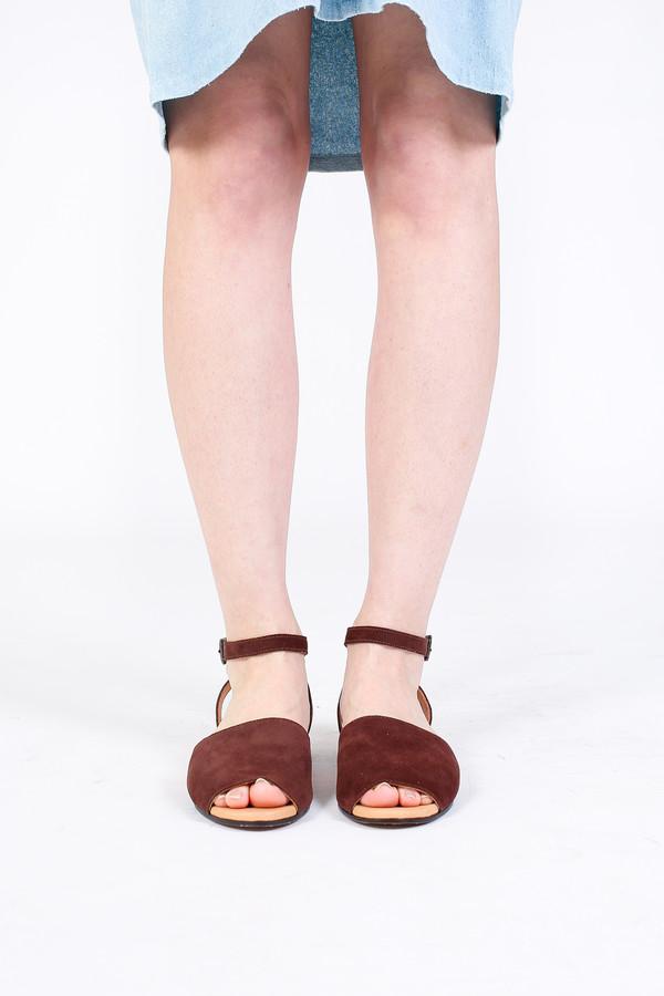Zespa Wrap Ankle Strap Sandal in Cocoa