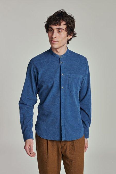 Delikatessen SS21 The zen Shirt - Japanese indigo blue soft corduroy