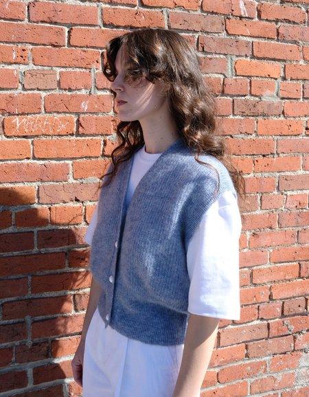 Just Female Girona Knit Vest - Blue