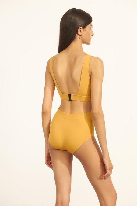 Else Mare Hidden Underwire Plunge Bikini Top - Saffron