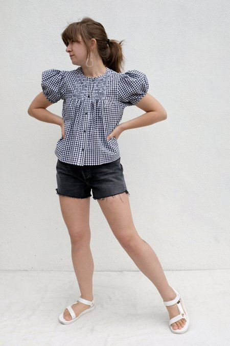 Rachel Comey Letta Top - Black Gingham Seersucker
