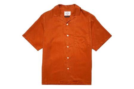 Portuguese Flannel Dogtown Shirt - Terracotta