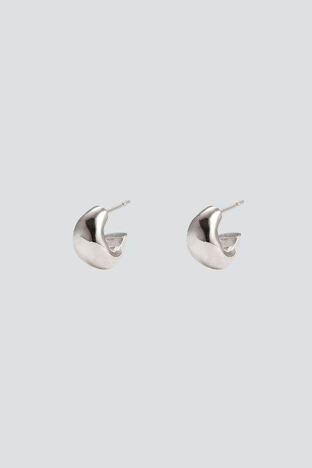 AGMES Mini Dahlia Huggies - Sterling Silver
