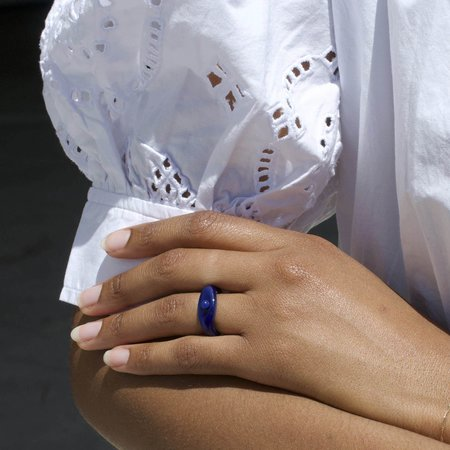 Tiana Marie Combes Roman Ring - Lapis