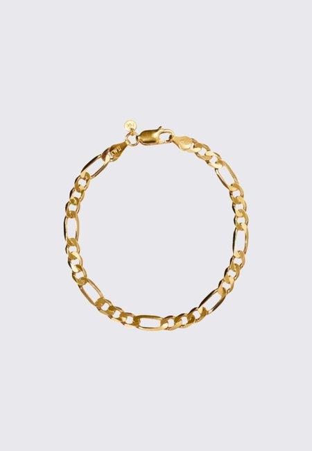 Meadowlark Figaro Wide Chain Bracelet 19cm - gold