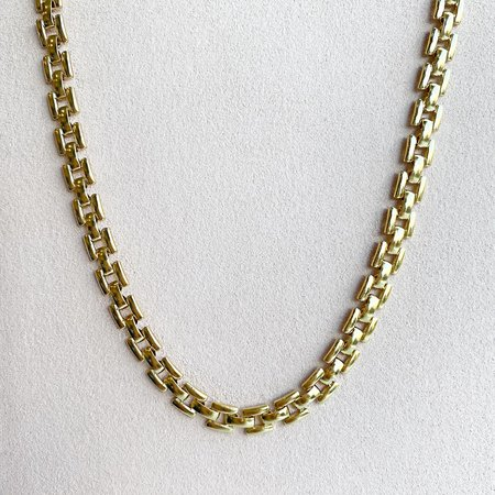 Leah Alexandra Gold Panther Chain Necklace - Gold plated