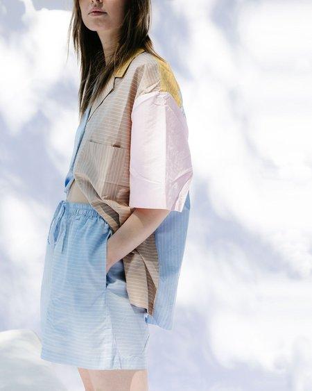 Soft Focus Lounge Short Sleeve Shirt - BLUE MULTI