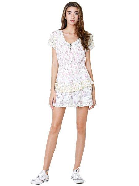 LoveShackFancy Jeromie Mini Dress - Fruit Bliss