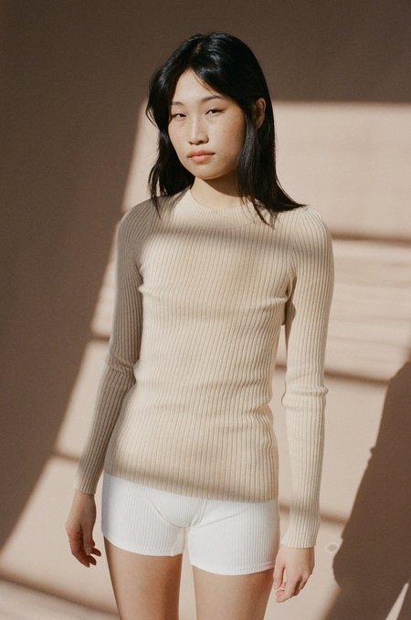 NEUW 'Morgan' Ribbed Knit Top - Blush