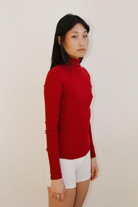 SISTER Laura Ribbed Skivvy sweater - Ruby