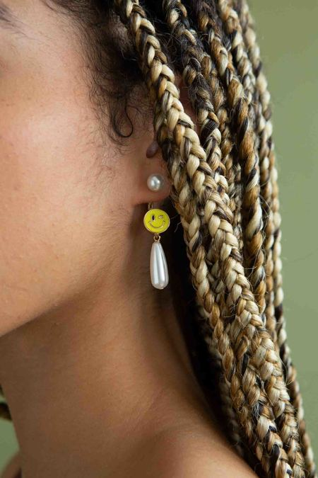 Safsafu Smiley Earring - Gold