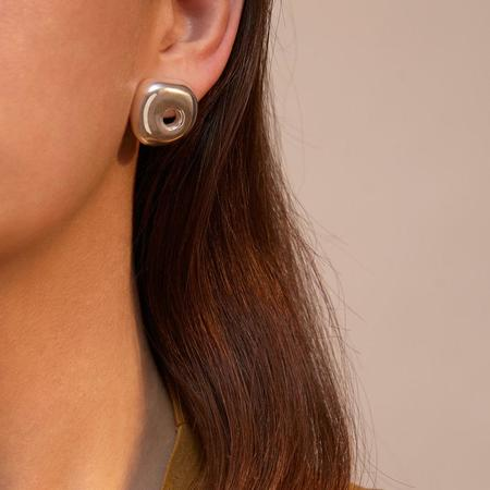 Leigh Miller Jewelry Hepworth Studs - brass/sterling silver