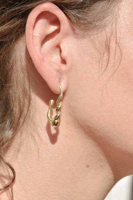 Leigh Miller Small Corkscrew Earrings - Brass