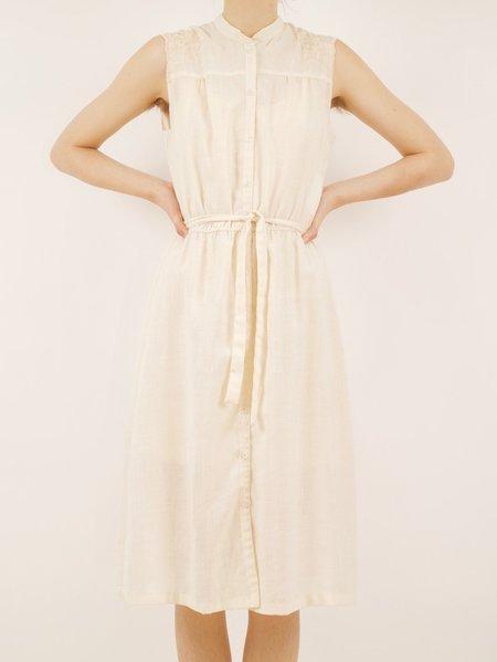 Vintage button down dress - CREAM