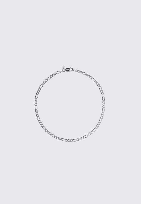 Meadowlark 17cm Figaro Fine Chain Bracelet - Silver