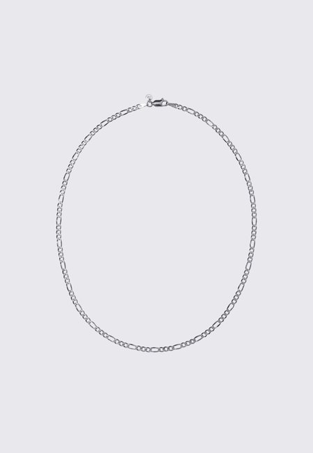 Meadowlark Figaro Fine Chain Necklace - Silver