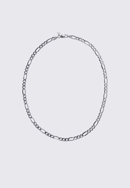 Meadowlark Figaro Wide Chain Necklace - silver