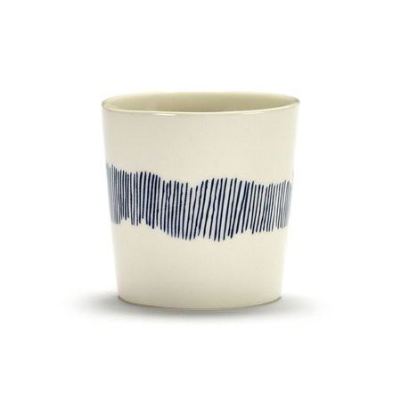 Serax Ottolenghi Feast Swirl Stripes Coffee Cup - White/Blue